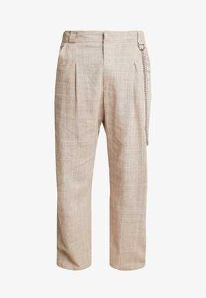 TROUSERS IN BIRGHT  - Trousers - brown