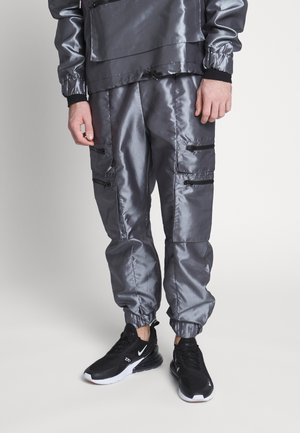 TRACK PANT - Reisitaskuhousut - silver