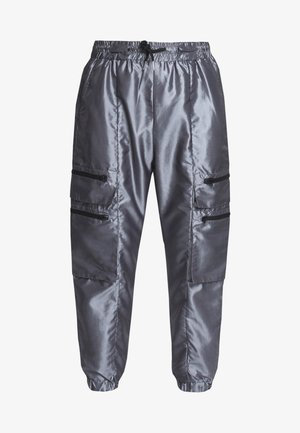 TRACK PANT - Cargo trousers - silver