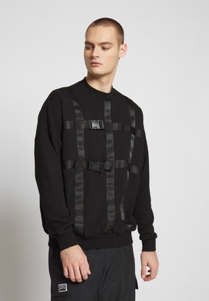 JUMPER WITH STRAPS - Felpa - black