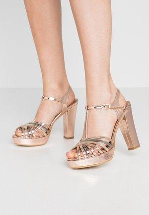 Sandalias de tacón - copper