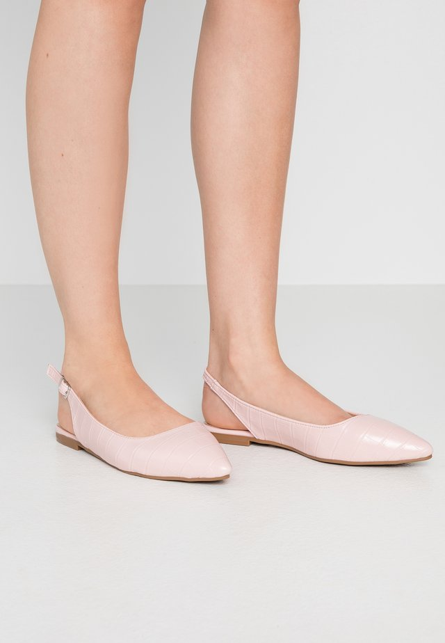 Slingback ballet pumps - powder pink