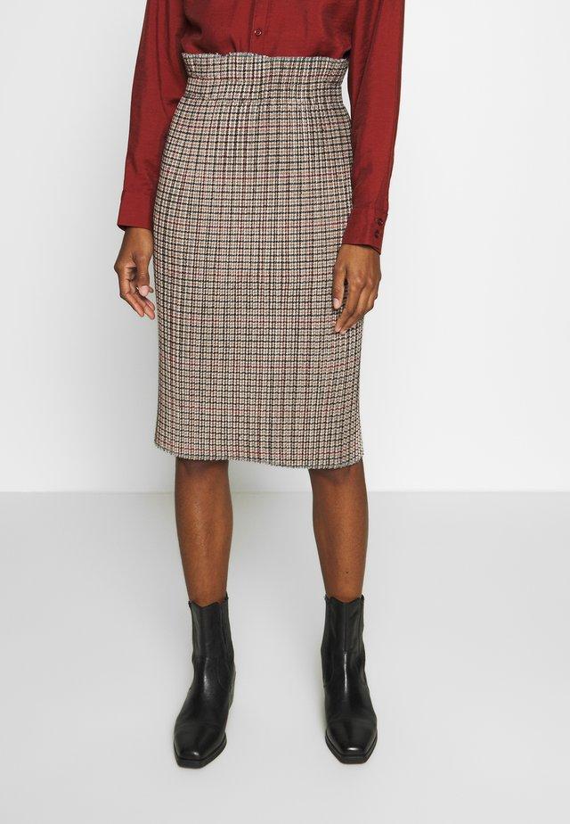 RENKLI - Pencil skirt - beige