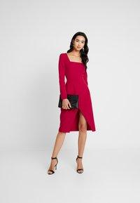 Trendyol - Denní šaty - burgundy - 2