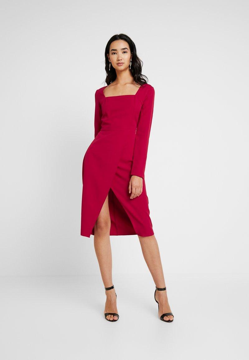 Trendyol - Denní šaty - burgundy