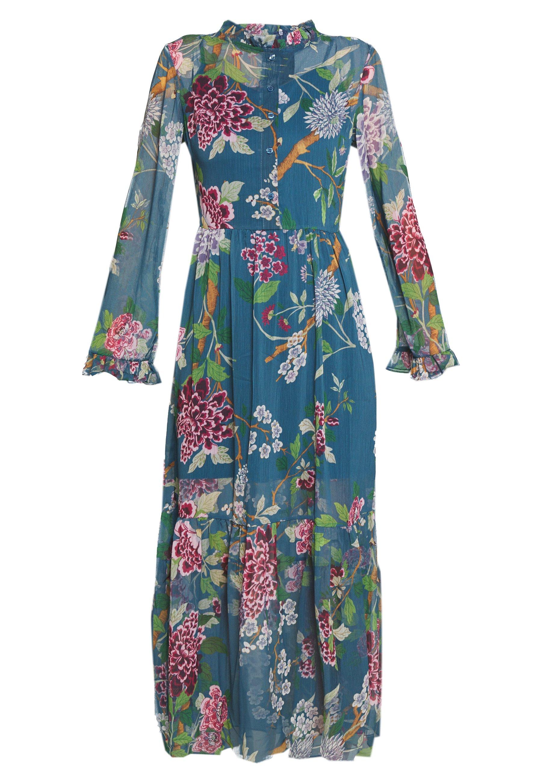 Trendyol Długa sukienka - petrol