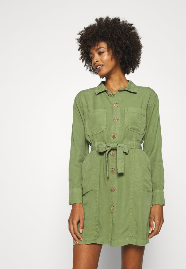 Vestido camisero - khaki