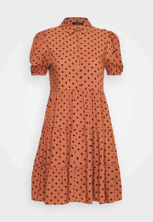TABA - Shirt dress - tobacco