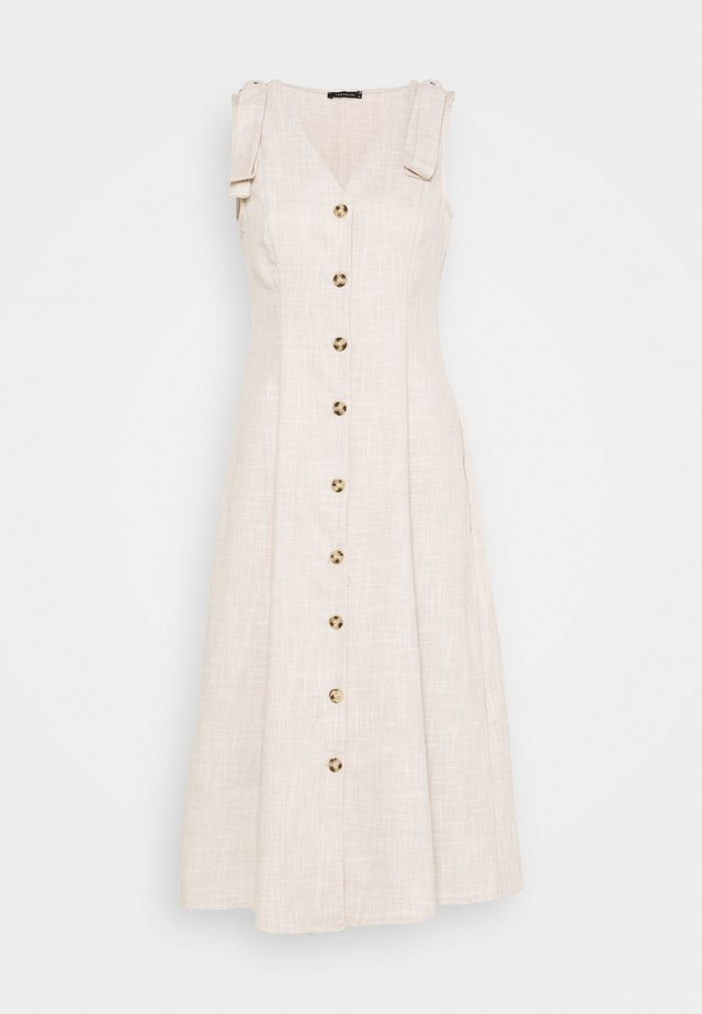 Vestido camisero - stone