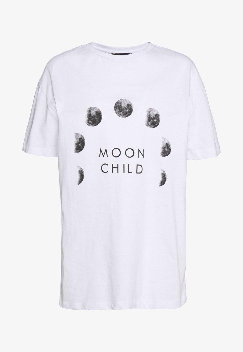 Trendyol - BEYAZ - T-Shirt print - white