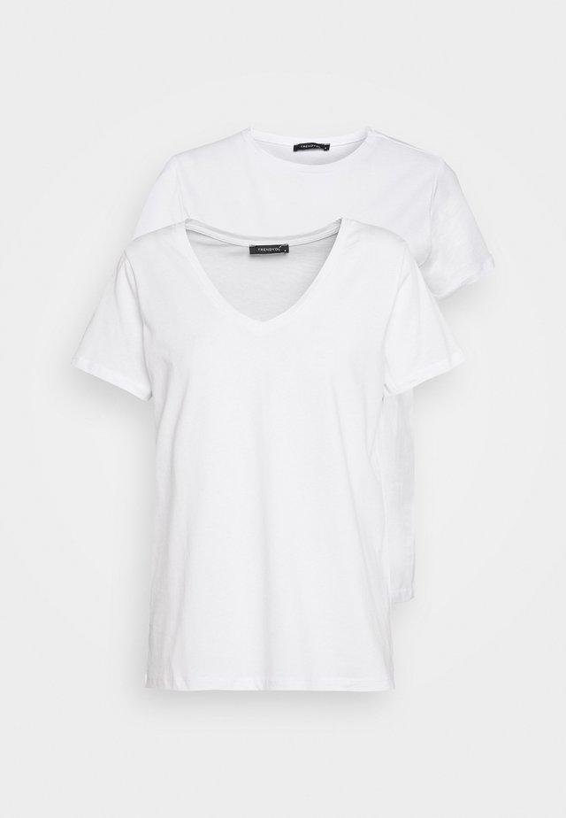 BEYAZ 2 PACK - Basic T-shirt - white