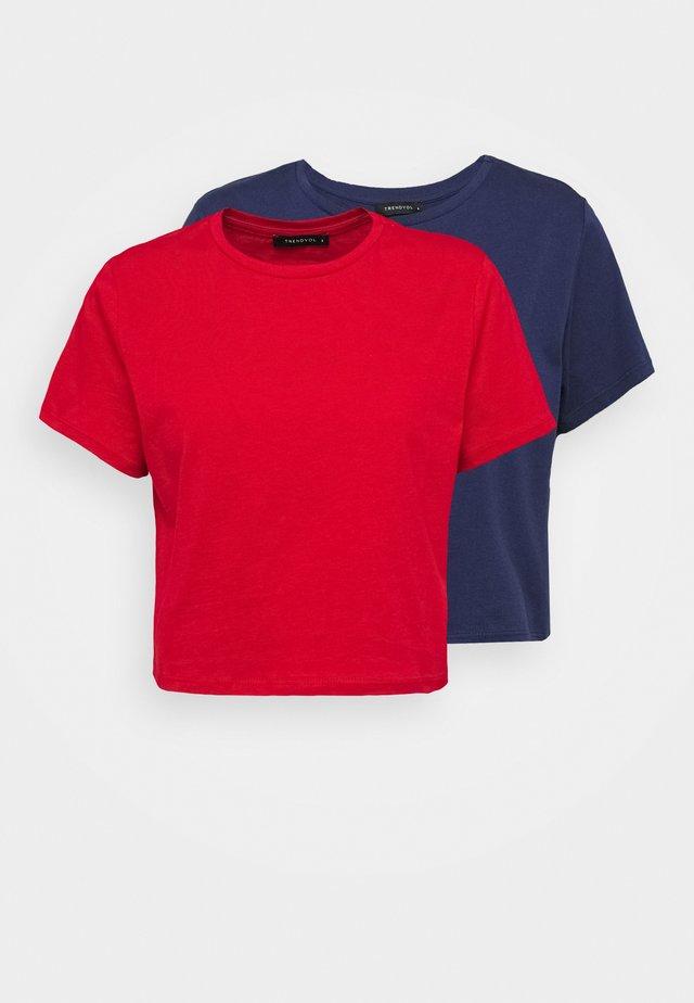 2 PACK - T-shirt - bas - multi color