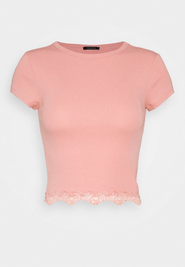 Print T-shirt - powder pink