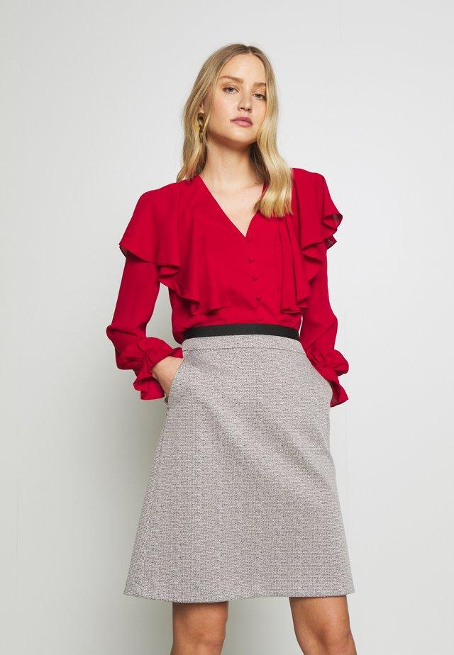 Bluzka - burgundy