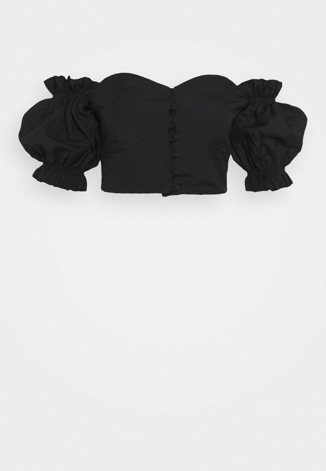 TWOSS SIYAH - Blouse - black