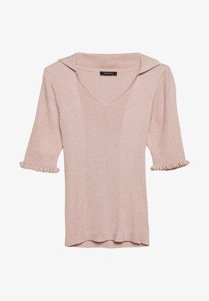 Jednoduché triko - powder pink