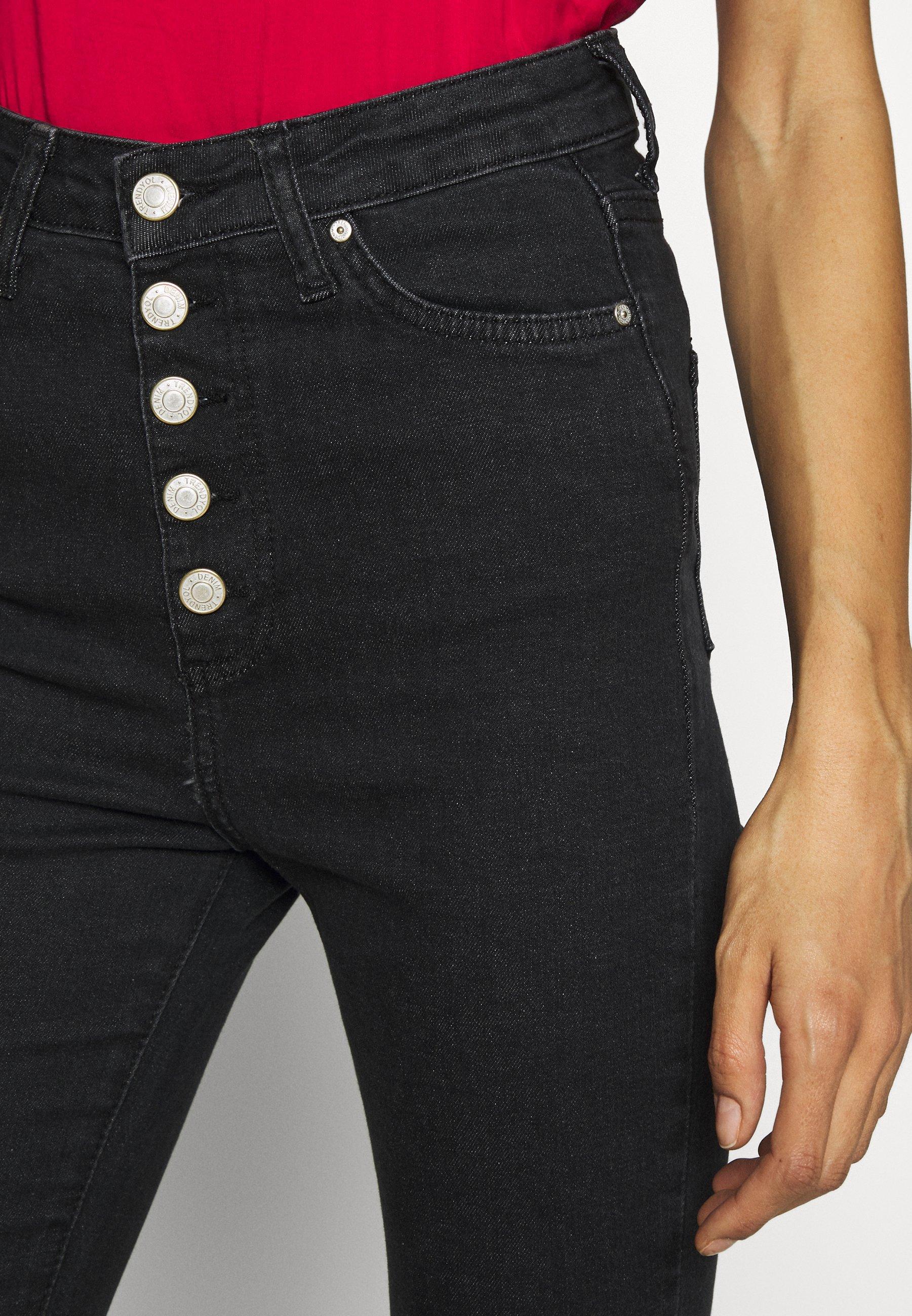 Trendyol MAVI - Jeansy Bootcut - black