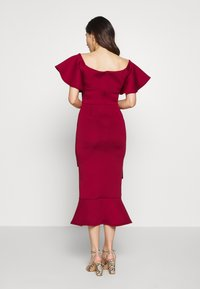 True Violet Petite - BARDOT MIDI DRESS - Cocktailkjole - burgundy - 2