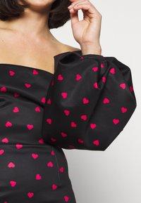 True Violet Petite - TRUE VIOLET OFF SHOULDER MINI DRESS WITH OVERSIZED PUFF SLEEVE - Day dress - black - 5