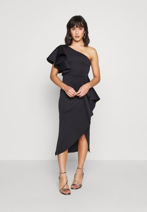 ONE SHOULDER MIDI DRESS - Vestido de cóctel - navy