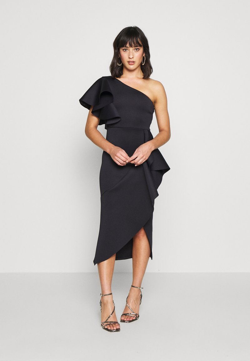 True Violet Petite - ONE SHOULDER MIDI DRESS - Cocktailkjole - navy
