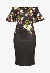 True Violet Petite - BARDOT PRINTED MIDI DRESS - Shift dress - black - 3