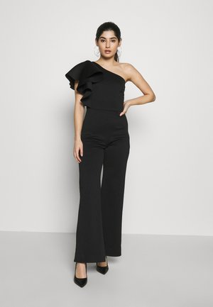 ONE SHOULDER FRILL - Mono - black