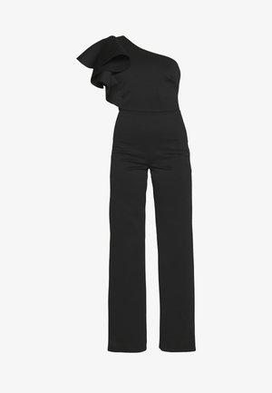 ONE SHOULDER FRILL - Jumpsuit - black