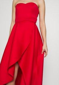 True Violet Petite - TRUE VIOLET BARDOT WRAP HIGH LOW DRESS - Cocktail dress / Party dress - red - 4