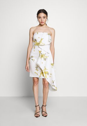 BANDEAU MINI DRESS WITH PEPLUM PETITE - Koktejlové šaty/ šaty na párty - ivory