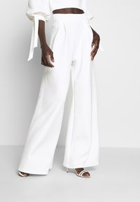 True Violet Tall - HIGH WAIST WIDE LEG TROUSERS - Trousers - white - 0