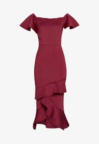 True Violet Tall - BARDOT MIDI DRESS - Cocktailjurk - dark red - 3