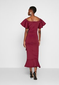 True Violet Tall - BARDOT MIDI DRESS - Cocktailjurk - dark red - 2
