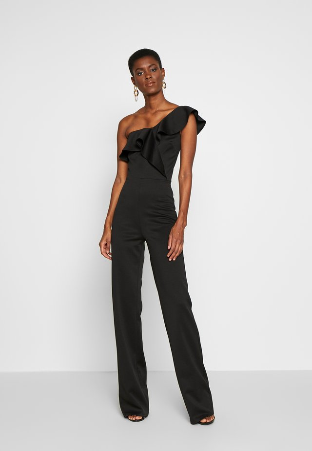 FRILL ONE SHOULDER - Jumpsuit - black