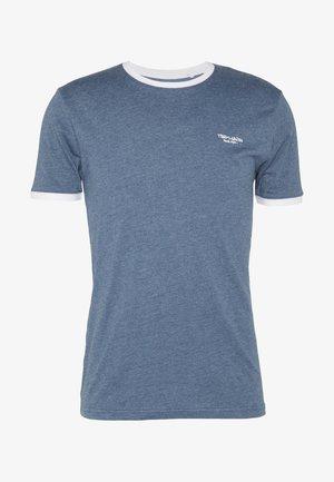 Basic T-shirt - indigo chine/blanc