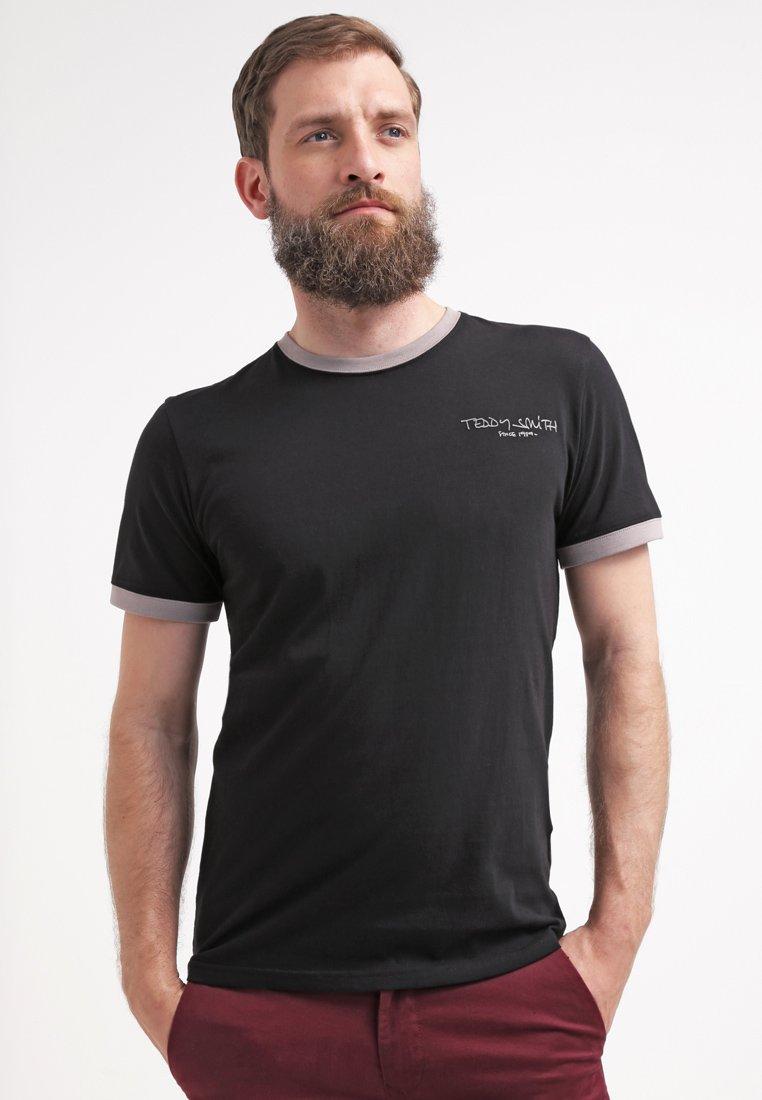 Teddy Smith T-shirt basic - noir/gris