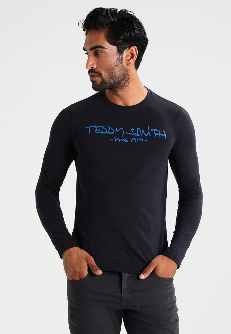 Teddy Smith - TICLASS - Langarmshirt - dark navy/caribbean blue