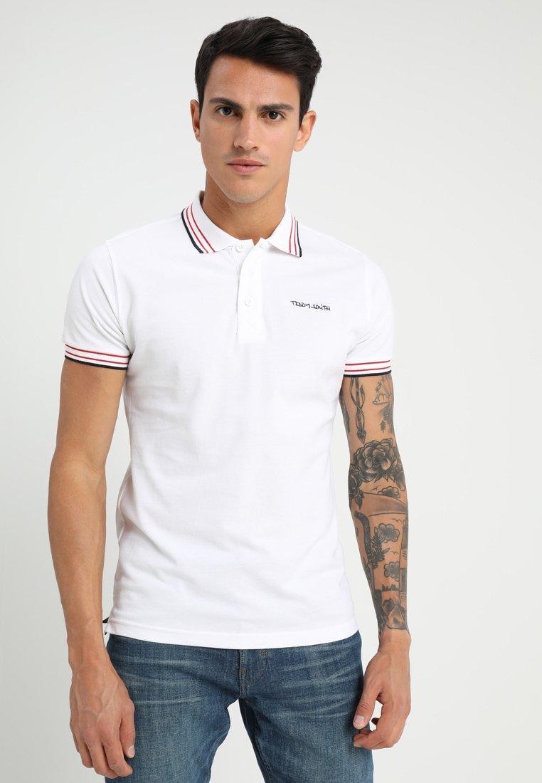 Teddy Smith - PASIAN - Poloshirt - blanc/blue/red