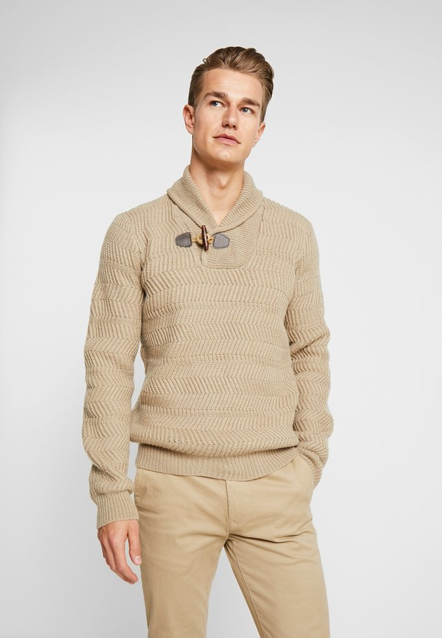 IRON - Jumper - beige chine