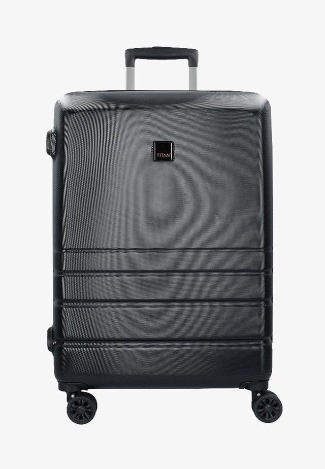 LIVERPOOL MIT DOPPELROLLEN - Wheeled suitcase - black