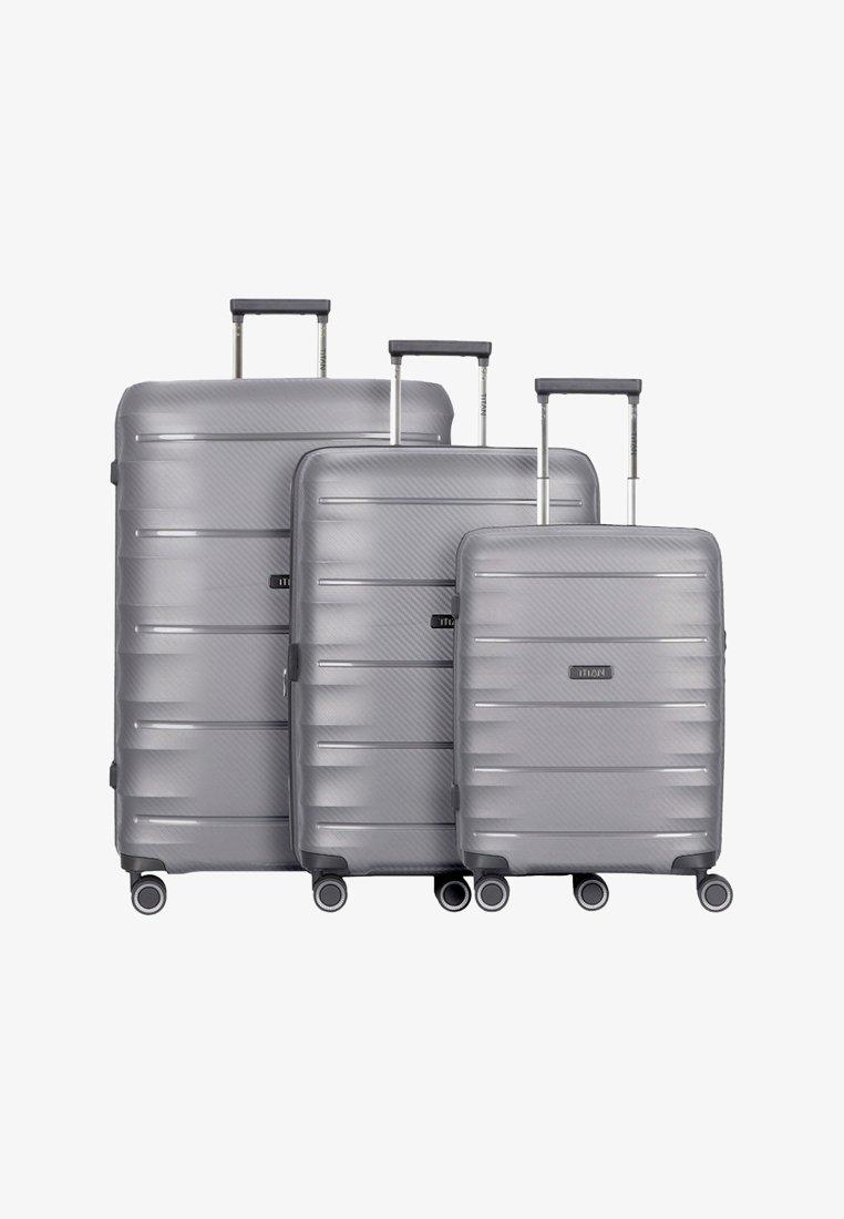 Titan - 3 PACK - Luggage set - anthracite