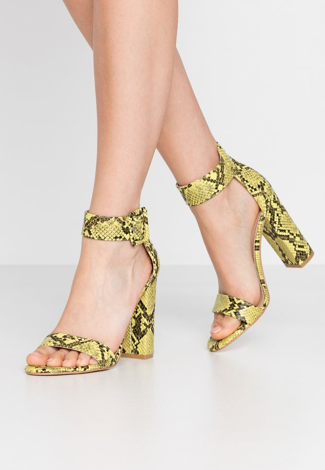 High Heel Sandalette - yellow