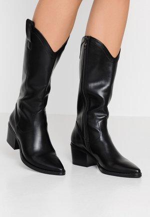 Cowboy- / Bikerboots - black
