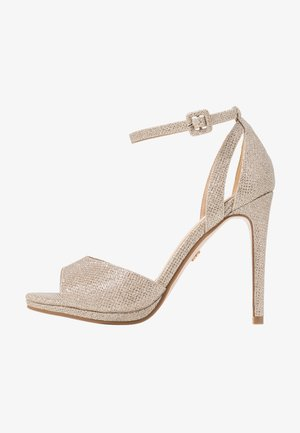 Sandalen met hoge hak - light gold
