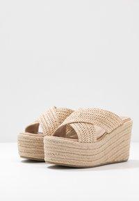 Tata Italia - Pantofle na podpatku - beige - 4