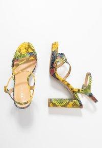 Tata Italia - Sandalen met hoge hak - yellow/green - 3