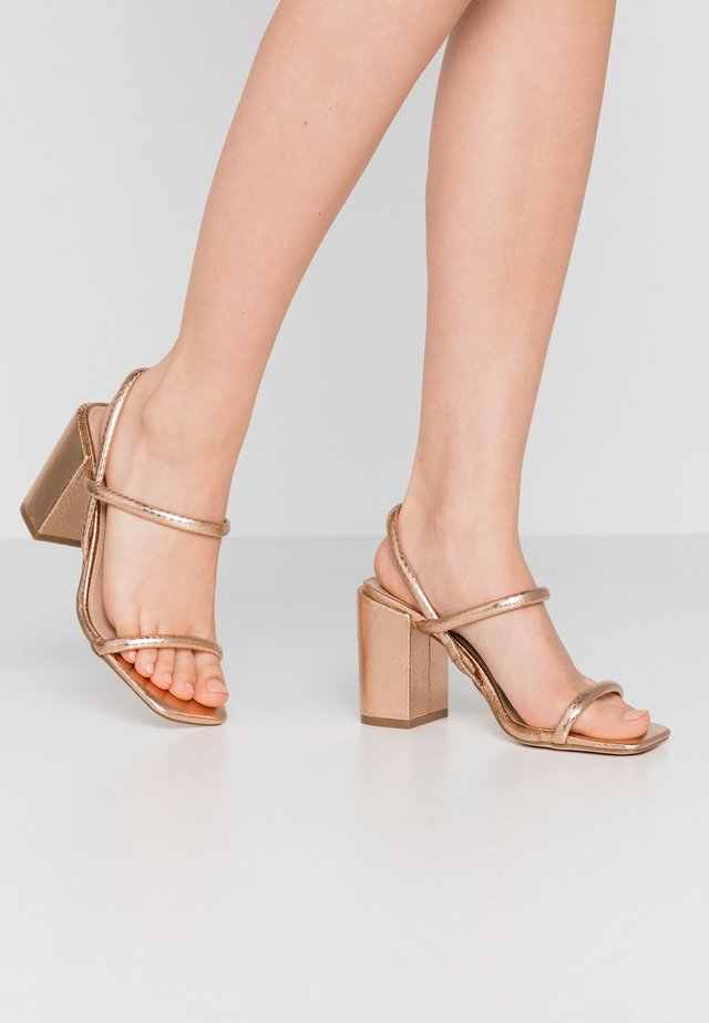 High Heel Sandalette - rose gold