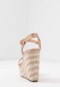 Tata Italia - Korolliset sandaalit - rosegold - 5