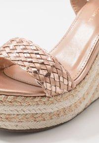 Tata Italia - Korolliset sandaalit - rosegold - 2