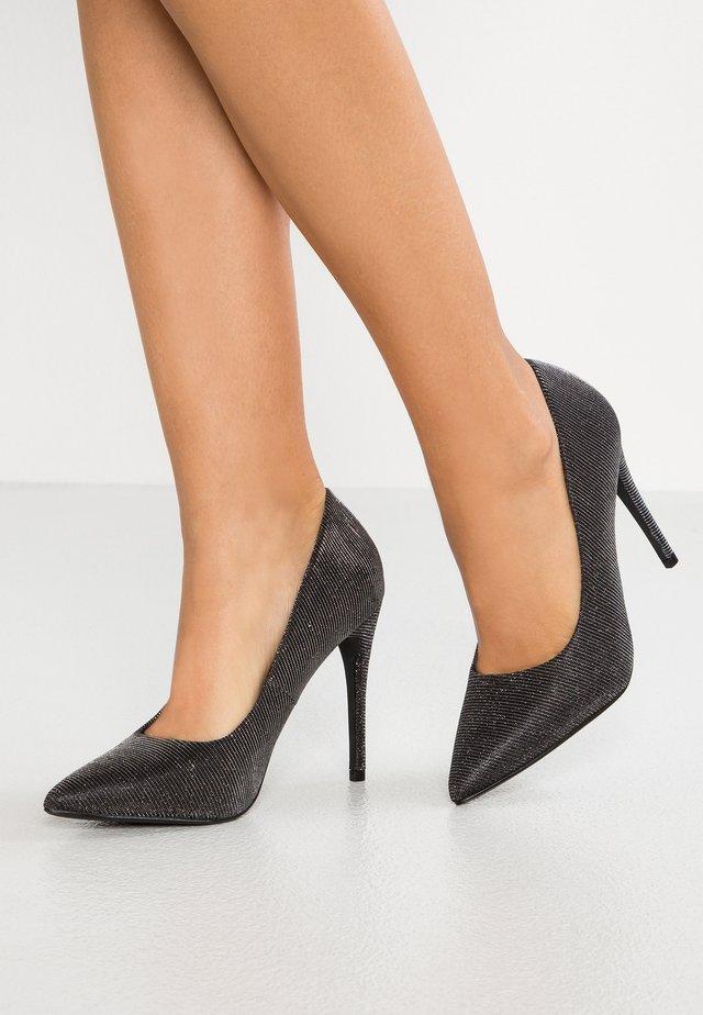 Lodičky na vysokém podpatku - black/grey